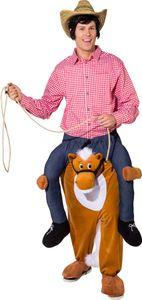 Erwachsenen Kostüm Huckepack Pferd Karneval Fasching 180-195cm