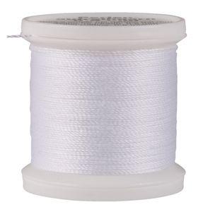 Perlen-Aufreihgarn, 0,5 mm, 100m weiß