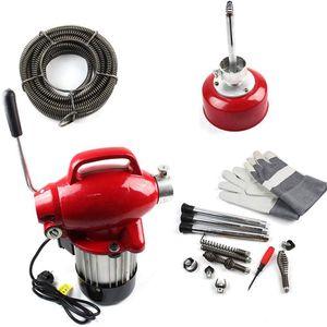 Elektrisch Rohrreinigungsmaschine 16MM Spirale Rohr Reiniger Reinigung Werkzeug Rohrreinigungsgerät 220V EU 250W 400U/min