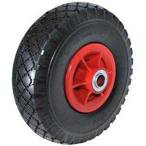 Sackkarrenrad Ersatzrad 3.00-4 Polyurethan Vollgummi Reifen Gummirad pannensicher B-70 mm, Menge/Rabatt:1 Stück