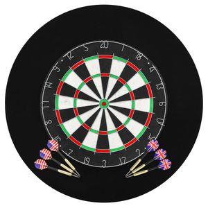 Profi Dartscheibe Dartboard Sisal Dart Tunier Set mit 6 Darts und Surround Ring, Innendurchmesser 45cm, VD32532_DE