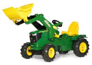 rolly toys Farmtrac John Deere 6210R Trettraktor mit Trac Lader, Maße: 142x53x81 cm; 61 110 2