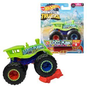 Monster Trucks | Hot Wheels | 1:64 Die-Cast Fahrzeuge | Autos | Mattel, Fahrzeug:Loco Punk