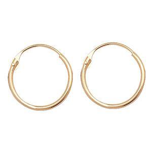 9 Karat (375) Gold Damen - Paar Creolen - 10mm*10mm; WJS11505