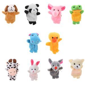 10 Stück Baby Fingerpuppen Set Tierfiguren Finger Tiere Plüschfigur für Geschichten erzählen