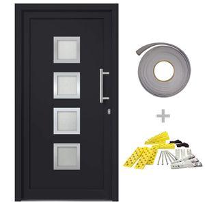 Hommie® Haustür Türen Anthrazit 88x200 cm