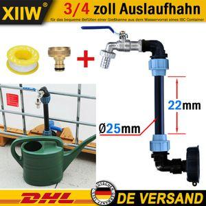 """IBC Schwanenhals mit 3/4"""" Auslaufhahn Regenwassertank Grobgewinde für Regen Wasser Tank Container Regenfass S60"""
