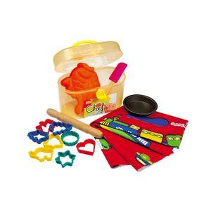 13-tlg Kinder Back-Set Teigrolle Ausstechformen Behälter Tarteform Silikon