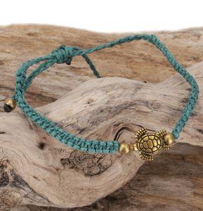 Ethno Schildkröten Perlenarmband, Makramee Armband - Türkis, Armreifen & Armbänder Modeschmuck