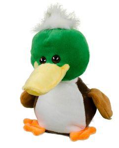 ANTON Labertier Ente mit Wackelkopf Partygag Scherzartikel 18,5 cm