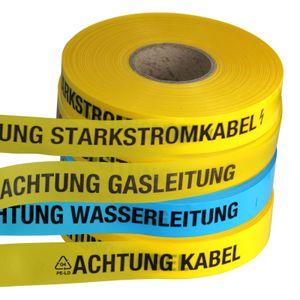 Achtung Kabel Trassenwarnband 250m Trassenband Warnband