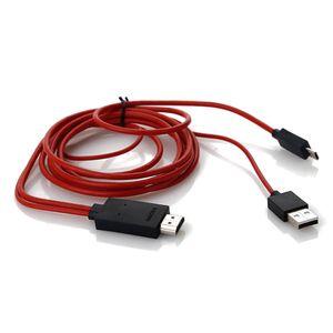 MHL auf HDMI Adapter für Micro-USB 2.0 Handy Tablet zu HD TV Kabel AC 2m 5Pin
