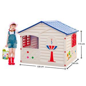 Kinderspielhaus Kunststoff Garten Outdoor Grand Soleil Casa MiaHöhe (cm): 130, Breite (cm): 106, Tiefe (cm): 115, Zusammensetzung: Kunststoff, Modelle: CASA MIA, Eigenschaften: Anti UV, Zertifikation: CE