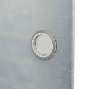 vidaXL Schiebetür Glas und Aluminium 178 cm Silbern
