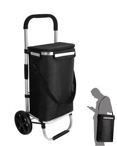Einkaufstrolley Einkaufsroller Einkaufswagen klappbar Tragetasche mit Kühlfach