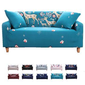 Elastischer Sofa-Überwürfe Antirutsch Stretch Sofaüberzug, Sofahusse, Sofabezug, Sofa Abdeckung Hussen für Sofa, Couch, Sessel (2 Sitzer, Sika Deer)