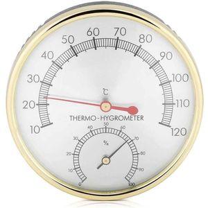 Mllaid 2 in 1 Metallsauna Hygrothermograph Thermometer Hygrometer Sauna Zimmer Zubehör für Häuserbüros Workshops Schulen Märkte Lager