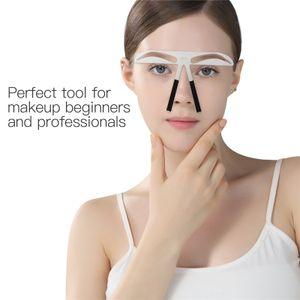2pcs Augenbrauen Schablonen für Damen Augenbrauen Lineal Schablone Make-up Maßnahme Balance gestalten