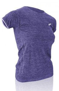 """F-LITE T-Shirt """"Megalight 140 Melange"""" Damen, Hybrid T-Shirt Cut mit U-Neck (140g/m2), luftig-leichte Passform, angenehm leichtes Tragegefühl, mit kurzen Ärmeln und dezent abgesetzten Bündchen, eingearbeitete Klimazonen an Brust und Rücken, nahtloser Mel"""