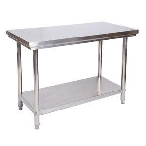 Edelstahl Tisch Arbeitstisch Edelstahltisch Gartentisch 100 x 60 x 85 cm