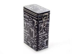"""Dose """"Nero"""" 500 g eckig,mit Bügelaromaverschluss, matt 19,6 x 12,2 x 7,8 cm"""