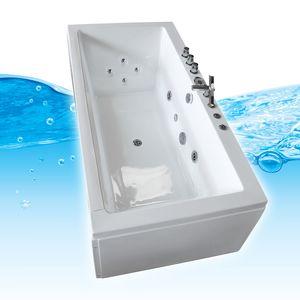 AcquaVapore Whirlpool Pool Badewanne Wanne A1813-ALL mit Reinigungsfunktion ohne +0.-€ mit Radio+Farblicht +50.-€ Variante B (an einer Wand)
