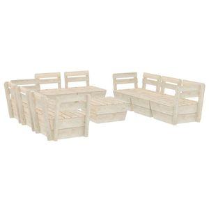 9-teiliges Garten-Paletten-Lounge-Set Gartengarnitur Set Sitzgruppe Imprägniertes Fichtenholz