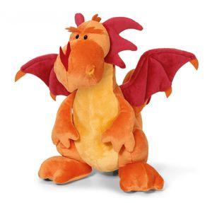 Nici 36007 Drache orange sitzend ca 20cm Plüsch Kuscheltier Dragons