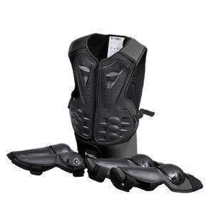 Kinder Protektoren Schutzset Protektorenjacke, Schützer für Ellenbogen, Knie. Schwarz für Skateboard, Radfahren, Reiten, Motocross