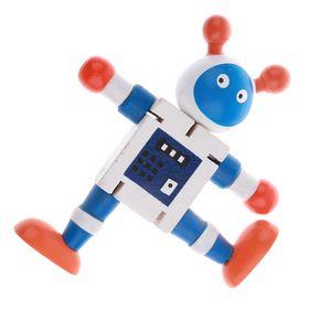 1 stück Holz Nussbaum Roboter Spielzeug Farbe Weiß