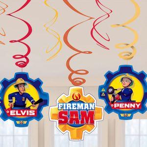 Amscan wirbelnder Feuerwehrmann Sam 6 Stück 60 cm