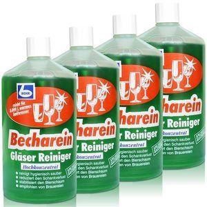 4x Dr. Becher Becharein Gläser Reiniger Hochkonzentrat / 1 Liter