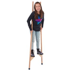 Stelzen aus Holz mit Gummifüßen Kinderstelzen Kinder Stelzenlaufen