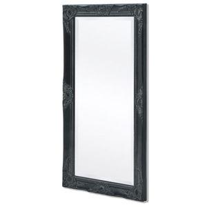 dereoir Wandspiegel im Barock-Stil 100x50 cm Schwarz