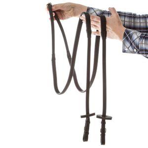 Horseware Rambo Micklem Gummizügel Multibridle mit Metallschnallen - schwarz, Größe:Pony (S)