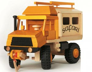 uniwood Safari Unimog Lkw nachhaltiges Holzspielzeug 928 0029