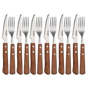 MICHELINO 12-tlg. Steakbesteck Steak Messer Gabel Steakmesser 10900