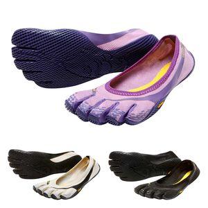 Vibram FiveFingers Entrada Women + Zehensocke, Size:36, Color:Cream / Black / Grey