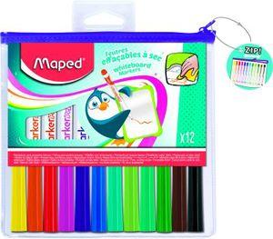 Maped Whiteboard Marker Marker'Peps,12er Reißverschlußtasche