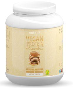 PROTEIN PANCAKE Vegan Natur 1kg - Pancakes - zuckerarm und fettarm - Eiweiß Pfannkuchen Mix ohne Süßstoffe - Backmischung schnell zubereitet