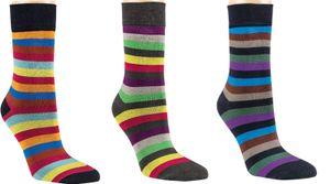 6 Paar Bambus Socken Bambussocken Ringel 2 Softrand ohne Gummi für Damen Gr. 35/38