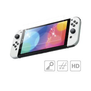 2 Stück Displayschutzfolie gehärtetem Glas für Nintendo Switch OLED 2021, Kratzfeste Anti-Fingerabdruck Transpare Switch OLED Bildschirmschutz Glas Folie