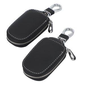 2x Keyless Go Autoschlüssel Tasche Schlüssel Schutz Schlüsseltasche Leder Autoschlüssel Schutzhülle Tasche