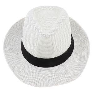 Uni Strohhut Fedora-Hut Sonnenhut Panamahut, Farbewahl Farbe Weiß