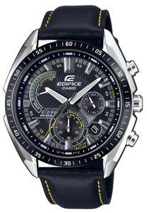 Casio Uhr Edifice Herren Armbanduhr EFR-570BL-1AVUEF Lederarmband