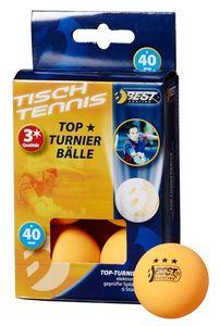 Tischtennisball / Turnierball orange 3-Sterne 6Stück