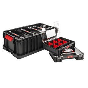Set: Qbrick System Two Box 530x310x195  + 6 x Organizer Multi 260x180x65 Werkzeugkoffer Organizer Werkstattordnung
