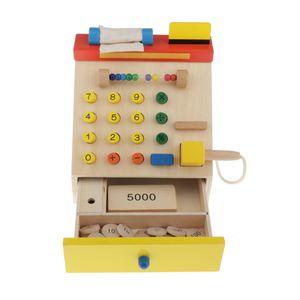 Kasse Registrieren Kinder Rollenspielset Aus Holz Mit Spielmünzen, Scanner Und Kreditkarte   Pädagogisches Geschenk Für Lebensmittelhändler
