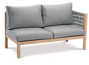 BEST Seitenteil Lounge Madagaskar 2-Sitzer rechts Grandis/grau, 52715167 braun