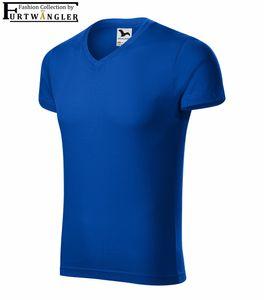 T-Shirt Königsblau 3XL Herrenshirt V-Ausschnitt Furtwängler Slim Fit V-Neck 180 g/m²